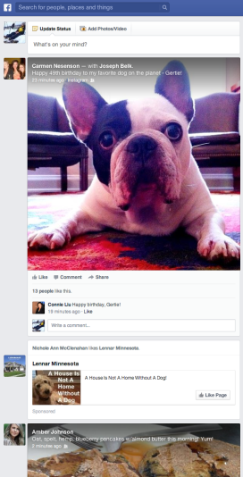 The new Facebook News Feed puts a major emphasis on visual content.
