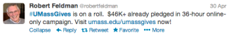 Twitter was a buzz with activity, helping virally spread the culture of philanthropy at UMass Amherst.