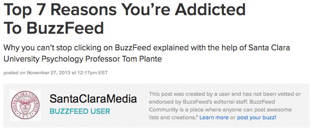 SCU BuzzFeed Title