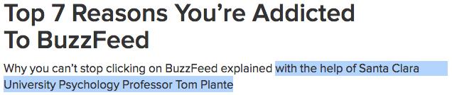 SCU BuzzFeed Expert