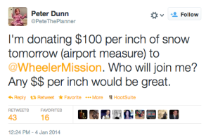 Hijacking a Blizzard for Twitter Fundraising Success