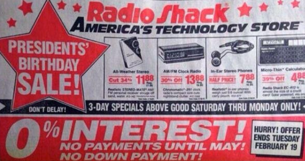 Your smartphone is essentially 80 percent of everything Radio Shack carried in 1991.