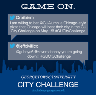 Gamification was the driving force behind Georgetown's successful City Challenge campaigns.
