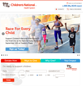 Children's National Health System has created a user-friendly website that has led to more and larger online gifts.