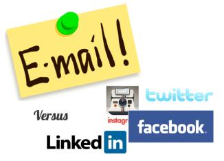 Email versus Social Media